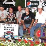 Rico Abreu scored the victory in Sunday's Honda USAC National Dirt Midget Series event at Angell Park Speedway in Sun Prairie, Wis. (Bob Cruse Photo)