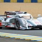 Loic Duval put the No. 2 Audi R18 e-tron quattro of Audi Sport Team Joest on the pole for the 24 Hours of Le Mans. (Pete Richards Photo)