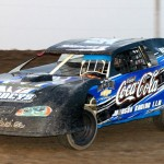 Bud Wilson drove to victory in the Grand National class Saturday night at I-35 Speedway in Missouri. (PictureMeRacing.com Photo)