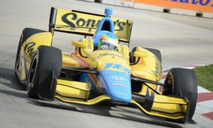 Mike Conway scored his second IZOD IndyCar Series victory during the first of two Verizon IndyCar Series races at Belle Isle Park in Detroit, Mich., last year. (Al Steinberg Photo)