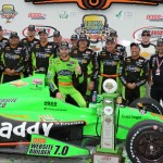 James Hinchcliffe scored his third victory of the 2013 IZOD IndyCar Series season Sunday at Iowa Speedway. (Al Steinberg Photo)
