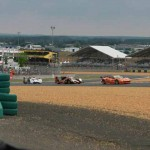 Cars on track during Wednesday's 24 Hours of Le Mans practice. (Pete Richards Photo)