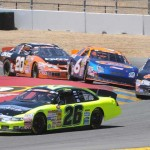 Greg Pursley (26) leads the field through a corner during Saturday's NASCAR K&N Pro Series West event at Sonoma (Calif.) Raceway. (Tom Parker Photo)