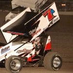 Kevin Ramey (7m) on his way to victory during Friday's ASCS Gulf South Region event held at Heart O'Texas Speedway in Waco, Texas. (Tom Meredith Photo)