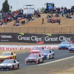 The NASCAR Sprint Cup Series field works its way around Sonoma (Calif.) Raceway last Sunday. (Tom Parker Photo)