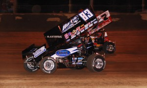 Tim Kaeding (83) won nine World of Outlaws races this season as the Roth team contested a partial World of Outlaws schedule.. (Doug Vandeventer Photo)