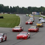 The GT class takes the green flag to start Saturday's Grand-Am Rolex Sports Car Series event at the Mid-Ohio Sports Car Course. (Doug Day Photo)