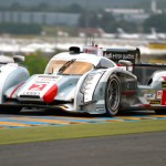 The No. 2 Audi R18 e-tron quattro shared by Tom Kristensen, Loic Duval and Allan McNish was the overall winner during the 24 Hours of Le Mans. (Pete Richards Photo)
