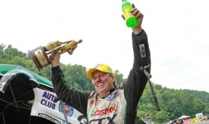 John Force said Thursday that he isn't retiring from the NHRA anytime soon. (Rhonda Hogue McCole Photo)