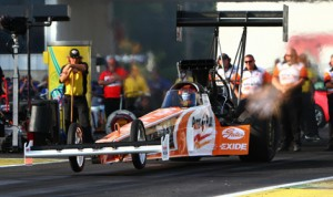 Parts Plus will return as primary sponsor of Clay Millican in the NHRA Top Fuel ranks in 2014. (Rhonda Hogue McCole Photo)
