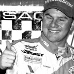 Jason Leffler gives a thumbs up after winning a USAC event in 2000. (NSSN Archives Photo)