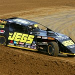 Kenny Wallace makes a hot lap with his UMP modified at Spoon River Speedway in Illinois. (Mike Ruefer photo)