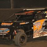 Jake Richards wheels his B Modified Friday night at Lakeside Speedway in Kansas City, Kan. (PictureMeRacing.com Photo)