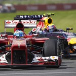 Fernando Alonso leads Mark Webber during Sunday's Canadian Grand Prix. (Steve Etherington Photo)