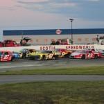 The Parts for Trucks Pro Stock Tour field prepares to go racing at Scotia Speedworld in Halifax, Nova Scotia. (Ken MacIsaac Photo)