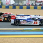 Practice action during Wednesday's 24 Hours of Le Mans practice. (Pete Richards Photo)