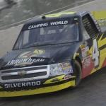 Jeb Burton on track during NASCAR Camping World Truck Series practice at Eldora Speedway. (HHP/Harold Hinson Photo)