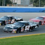Chris Wimmer (52), Jacob Goede (8) and Jeff Storm during Tuesday's ARCA Midwest Tour Howie Lettow Memorial 150 at The Milwaukee Mile. (Doug Hornickel Photo)