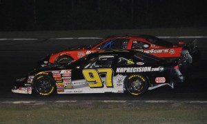 Joey Polewarczyk Jr. (97) picked up the ACT late model victory at Star (N.H.) Speedway earlier this year. ACT has signed a long-term tire agreement with American Racer. (Eric LaFleche photo)