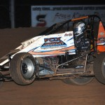 Chad Boespflug during Friday's AMSOIL USAC National Sprint Car Series action at Bloomington (Ind.) Speedway. (Ginny Heithaus Photo)