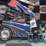 John Zych picked up the Northeastern Midget Ass'n victory Saturday night at Stafford Motor Speedway in Stafford Springs, Conn. (John DaDalt Photo)