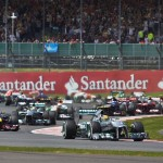 Lewis Hamilton leads the Formula One field early during Sunday's British Grand Prix. (Steve Etherington Photo)