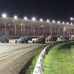 The AMSOIL USAC National Sprint Car Series field prepares for racing last year at the Terre Haute (Ind.) Action Track. (Gordon Gill Photo)