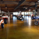 There are dozens of cars on the Canepa Design museum floor. (Ralph Sheheen Photo)