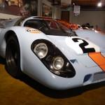 The 1970 Porsche 917 racer inside Canepa Design in Scotts Valley, Calif. (Ralph Sheheen Photo)