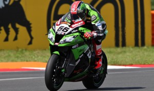 Tom Sykes topped the World Superbike charts during Qualifying 1 Friday at Russia's Moscow Raceway.