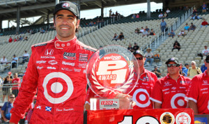 Dario Franchitti earned the pole for Sunday's IZOD IndyCar Series race at Sonoma (Calif.) Raceway. (Chris Jones/IndyCar Photo)