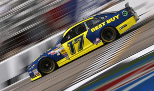 Ricky Stenhouse Jr. earned his first career NASCAR Sprint Cup Series pole on Friday at Atlanta Motor Speedway. (HHP/Christa L. Thomas Photo)