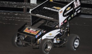 Tony Stewart was racing this sprint car on the night he was hurt at Southern Iowa Speedway. (Frank Smith Photo)