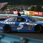 Kasey Kahne gets sideways through the esses during Sunday's NASCAR Sprint Cup Series race at Watkins Glen (N.Y.) Int'l. (NASCAR Photo)