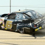 Will Gallaher crashes during Sunday's ARCA Racing Series event at Madison Int'l Speedway. (Doug Hornickel Photo)
