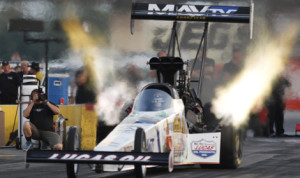 J.R. Todd registered the fastest pass during testing for the U.S. Nationals at Lucas Oil Raceway in Clermont, Ind., on Wednesday. (NHRA Photo)