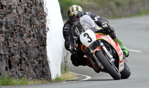 Michael Dunlop storms his way to a win in the Formula 1 Classic TT at the Isle of Man on Monday. (Dave Kneen Photo)