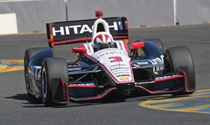 Helio Castroneves was second fastest in IZOD IndyCar Series practice at Sonoma (Calif.) Raceway on Friday. (IndyCar Photo)