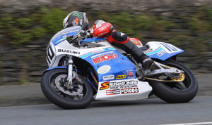 Conor Cummins paced Classic TT qualifying aboard his Suzuki XR69. (Isle of Man Photo)