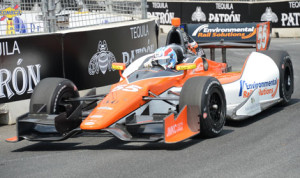 Tristan Vautier led IZOD IndyCar Series practice on the Streets of Baltimore on Friday. (Al Steinberg Photo)