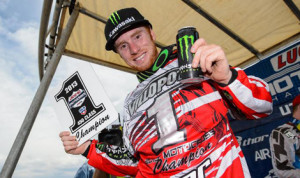 Ryan Villopoto locked up the Lucas Oil Pro Motocross 450 championship Saturday in Utah. (Simon Cudby Photo)