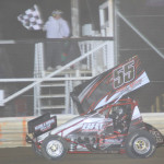 Brad Bowman earned his first 410 sprint car victory Saturday night at Attica (Ohio) Raceway Park. (Action photo)