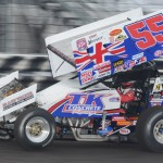Brooke Tatnell drove to victory in the SPEED SPORT World Challenge on Friday to earn the 25th starting spot in the 53rd FVP Knoxville Nationals. (Conrad Nelson Photo)