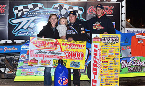 Jason Hughes claimed Friday's United States Modified Touring Series feature at Wisconsin's Mississippi Thunder Speedway. (Bruce Nuttleman Photo)