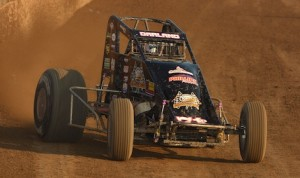 Dave Darland won Saturday's USAC sprint car feature at Kokomo (Ind.) Speedway. (David E. Heithaus photo)