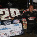 Darrell Lanigan won Monday's World of Outlaws Late Model Series race at Iowa's Independence Motor Speedway. (Kevin Kovac/WoO LMS Photo)