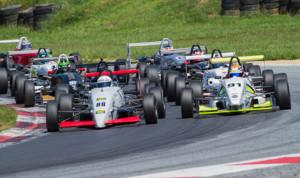 Tim Minor (88) led every lap of Saturday's F2000 Championship Series race at Summit Point (W.Va.) Motorsports Park. (Valet Photo)