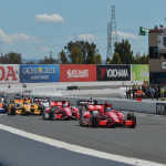 The IZOD IndyCar Series field takes the green flag Sunday at Sonoma (Calif.) Raceway. (IndyCar Photo)