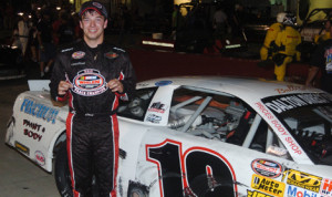 Chad Finchum claimed the Kingsport Speedway late-model track championship on Friday night. (Drew Hierwarter Photo)