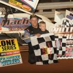 Mark Smith won Saturday's Rislone URC Sprint Series feature at Williams Grove Speedway. (Julia Johnson Photo)